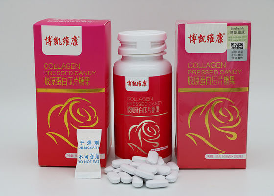 Pure / Natural Collagen Tablets, Collagen Witamina C Tabletki Candy Health Care Supplements